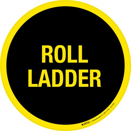 Roll Ladder Floor Sign