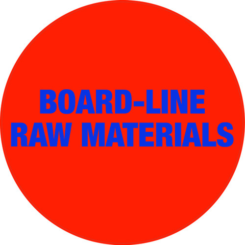 Board-Line Raw Materials Floor Sign