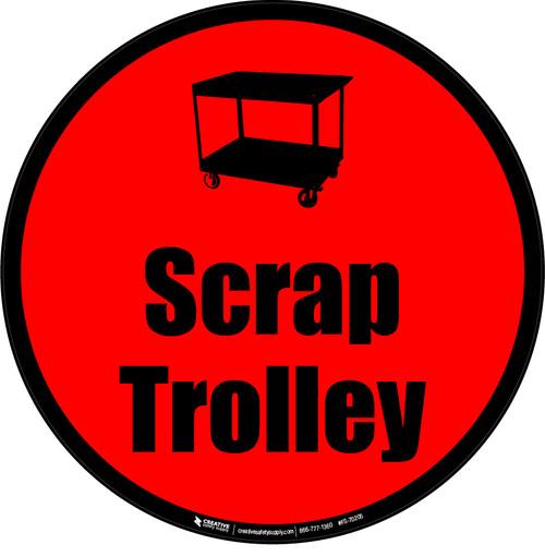 Scrap Trolley Floor Sign
