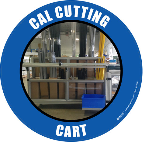 Cal Cutting Cart (Real) Floor Sign