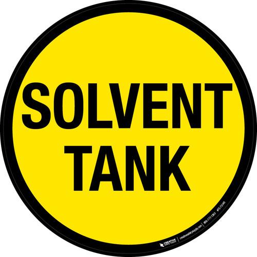 Solvent Tank Floor Sign