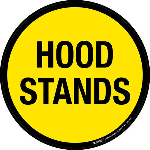 Hood Stands Floor Signs