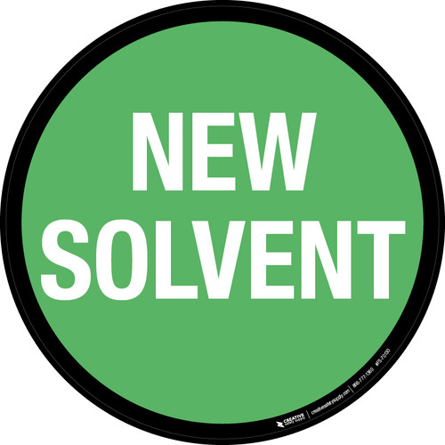 New Solvent Floor Sign
