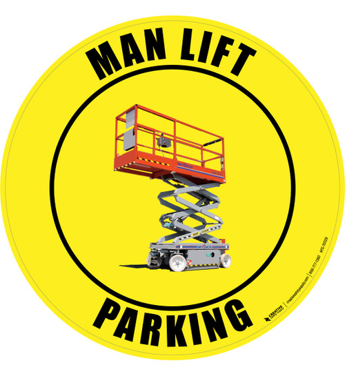 Man Lift Parking Floor Sign