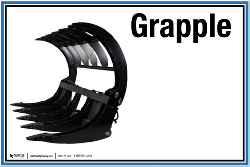 "Wall Sign: (UR) Grapple - 12""x18"" (Peel-and-Stick Permanent Adhesive)"