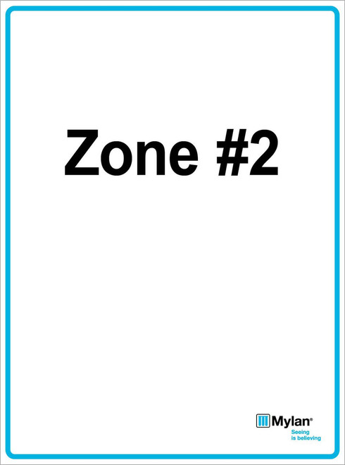 """Wall Sign: (Mylan Logo) Zone #2 15""""x20"""" (Mounted on 3mm PVC) Double Sided"""