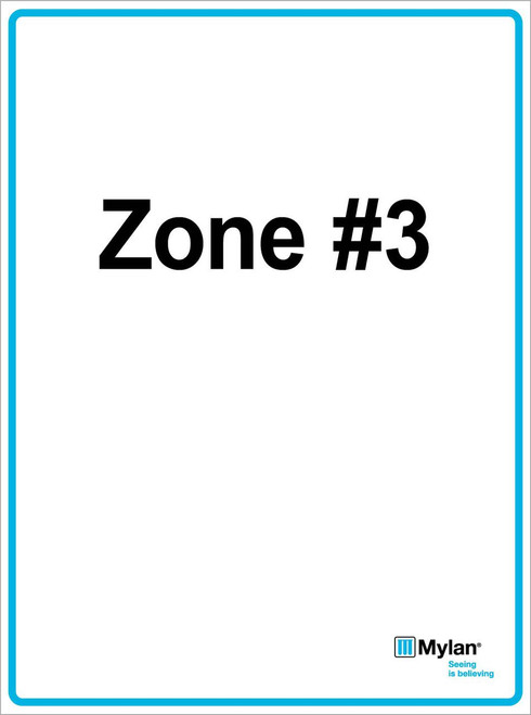 "Wall Sign: (Mylan Logo) Zone #3 15""x20"" (Mounted on 3mm PVC) Double Sided"