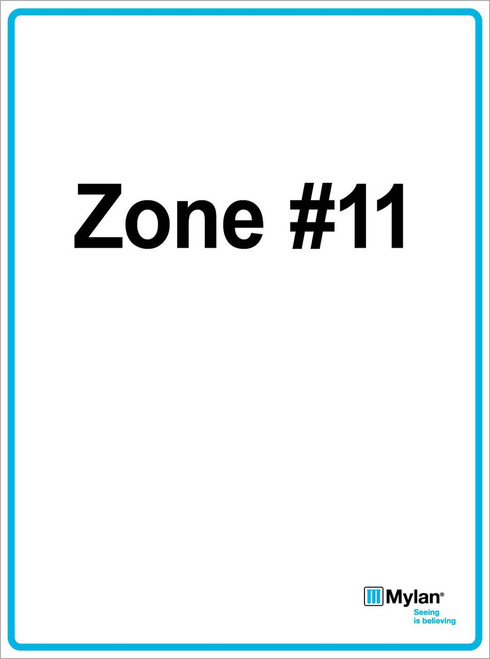 "Wall Sign: (Mylan Logo) Zone #11 15""x20"" (Mounted on 3mm PVC) Double Sided"
