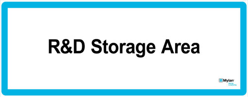 "Wall Sign: (Mylan Logo) R&D Storage Area 16""x40"" (Mounted on 3mm PVC)"