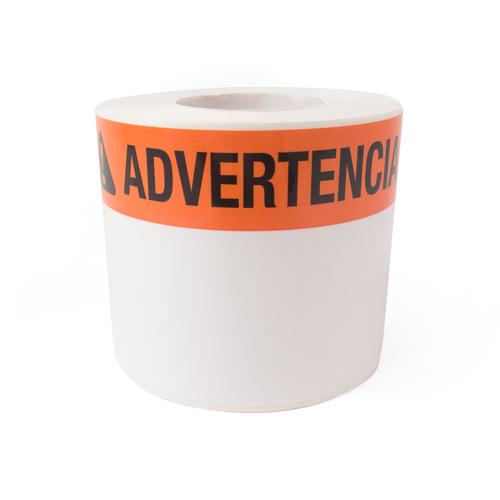 LabelTac Advertencia Die-Cut Labels Roll