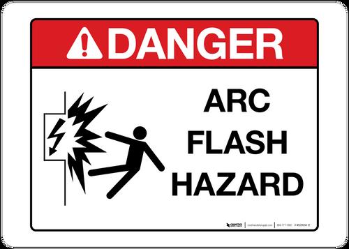Danger - Arc Flash Hazard - Wall Sign