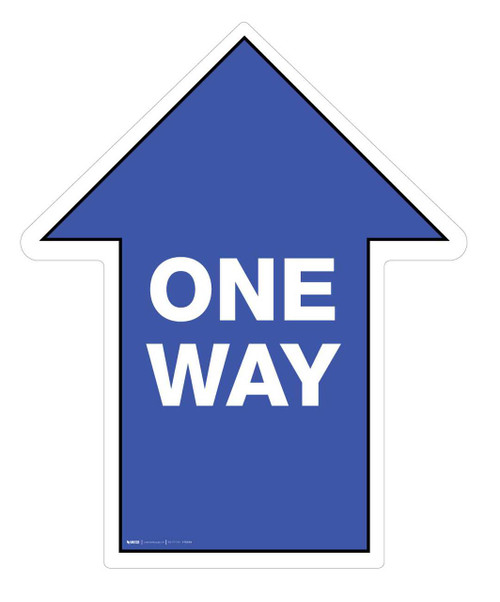 One Way - Floor Sign