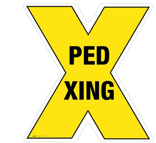 Pedestrian Crossing - Floor Sign