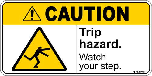 Caution - Trip Hazard label