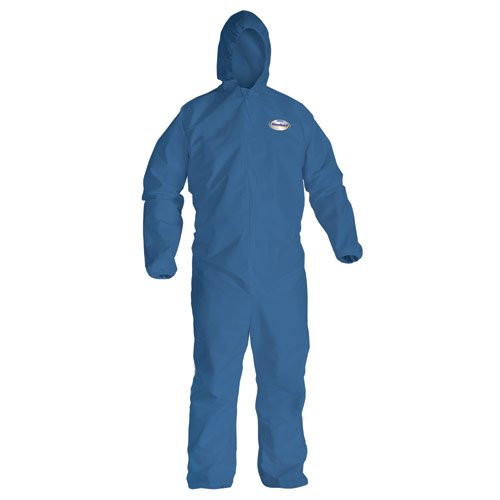 KleenGuard A20 Breathable Coverall with Hood - Denim Blue