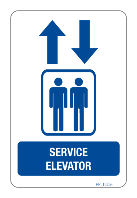 Service Elevator Label PPL10254