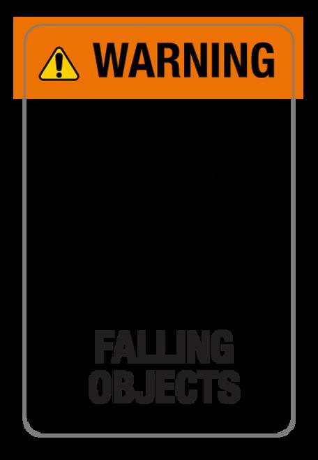 Warning - Falling Objects Label
