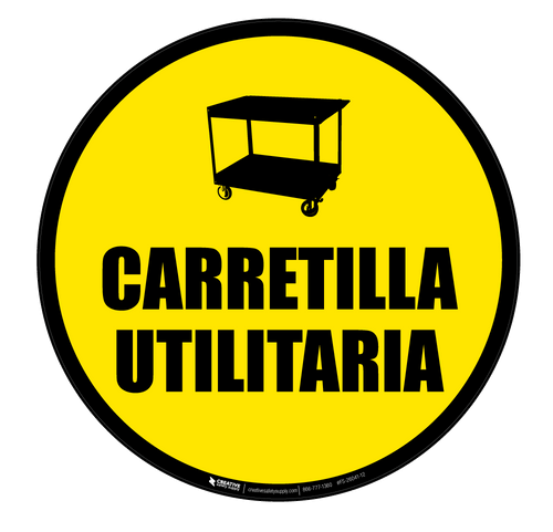Carretilla Utilaria (Floor Cart) - Floor Sign