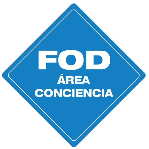 FOD Área Conciencia (FOD Awareness Area) - Floor Sign