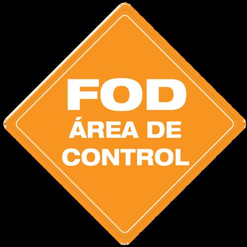 FOD Área de Control (FOD Control Area) Type B (Floor Sign)