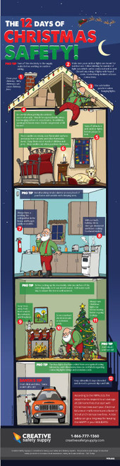 12 Days of Christmas Safety - Poster