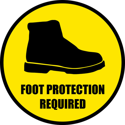 Foot Protection Required Floor Sign