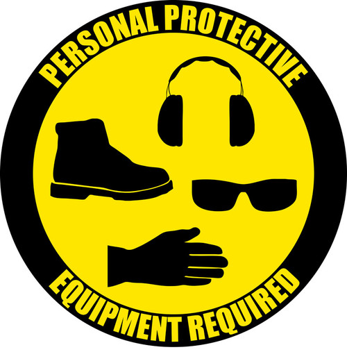 Ppe Required Floor Sign Creative Safety Supply