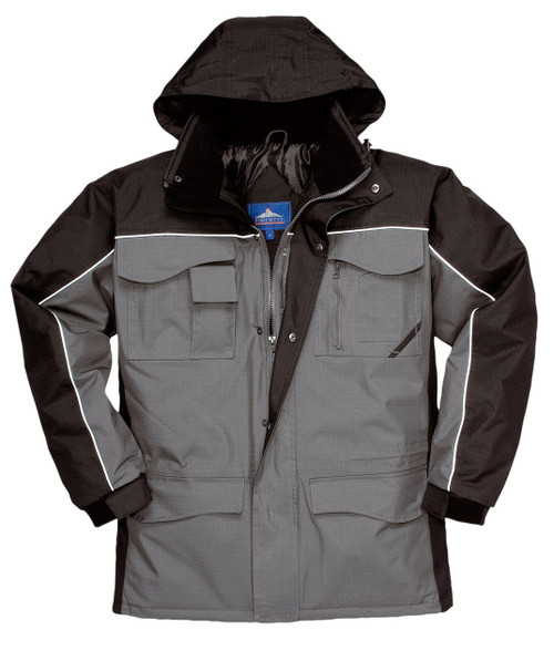 Portwest S562 Ripstop Parka - Black/Gray