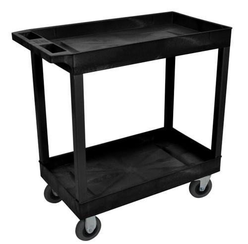 Luxor Black 18x32 2 Tub Cart W/ SP5 Casters