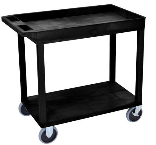 Luxor Black EC12HD 18x32 Cart 1 Tub with 1 Flat Shelf