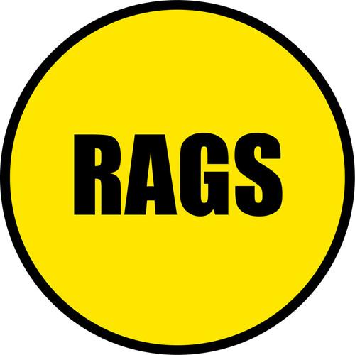 Yellow/Black Floor Sign - RAGS