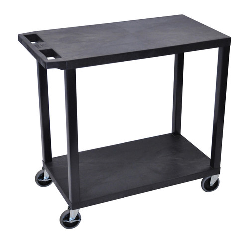 Luxor Black EC22-B 18x32 Cart with 2 Flat Shelves