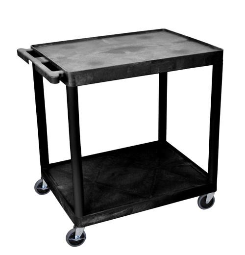 Luxor 2 Shelf Utility Cart Black