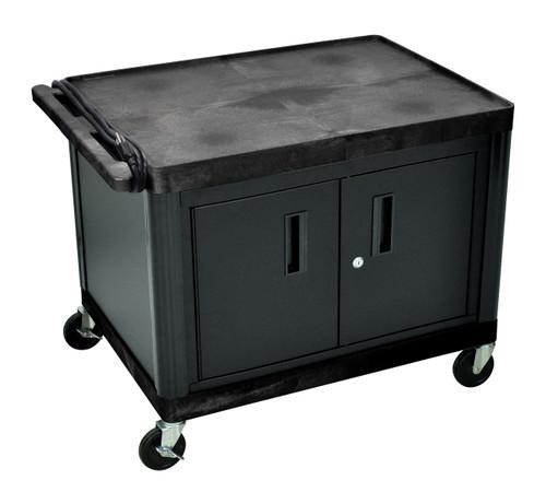 "Luxor AV Cart with Locking Cabinet 27"" H"