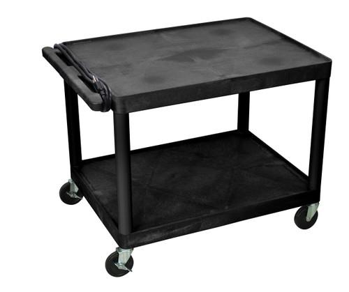 "Luxor 32 x 24 2 Shelf Black Endura Presentation Cart 27""H"