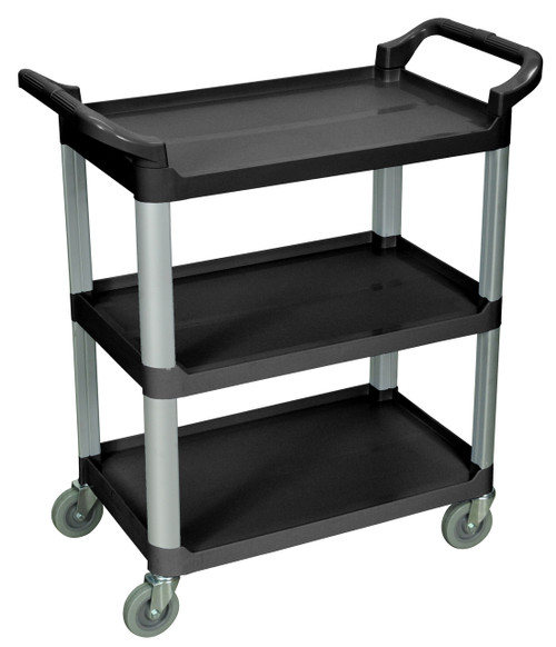 Luxor 3 Shelf Black Serving Cart