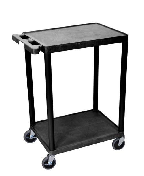 Luxor 2 Shelf Black Cart