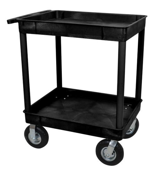 Luxor Black 24x32 2 Tub Cart W/ P8 Casters