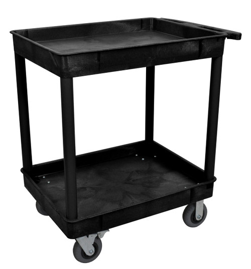 Luxor Black 24x32 2 Tub Cart W/ SP6 Casters
