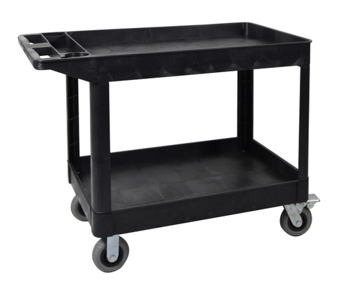 Luxor XLC11SP6-B two shelf heavy-duty utility cart