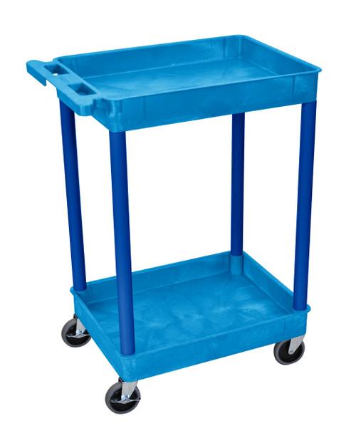 Luxor Blue 2 Shelf Tub Cart