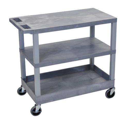 Luxor Gray EC221-G 18x32 Cart 2 Flat/1 Tub Shelves