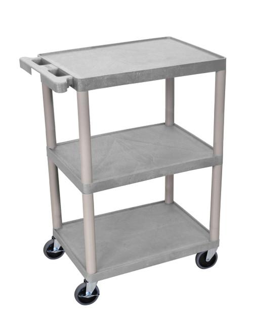 Luxor 3 Shelf Gray Cart