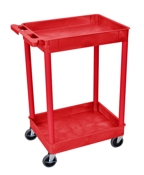 Luxor 2 Shelf Tub Cart Red