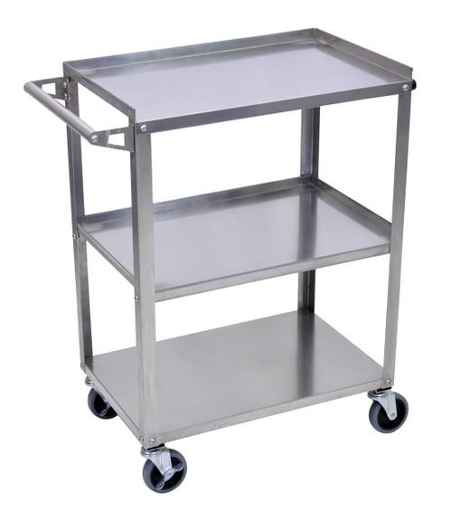 Luxor Stainless Steel 3 Shelf Cart