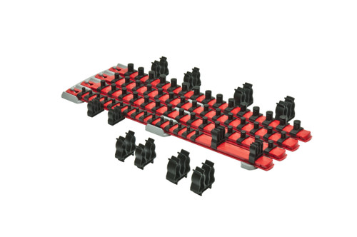 Twist Lock Complete Socket System - Magnetic - Red