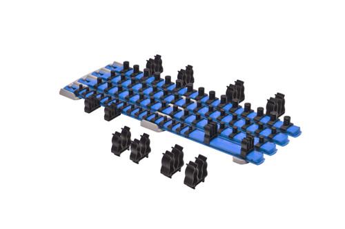 Twist Lock Complete Socket System - Magnetic - Blue