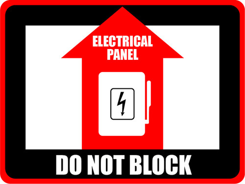 Electrical Panel - Do Not Block Floor Sign (Rectangle)