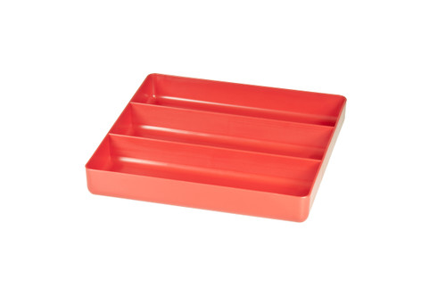"10.5 x 10.5"" 3 compartment Organizer Tray - Red"