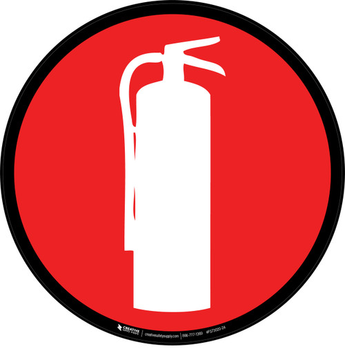 Fire Extinguisher Symbol Floor Sign Creative Safety Supply